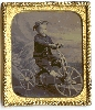 Young Boy on a Tricycle Sixth Plate